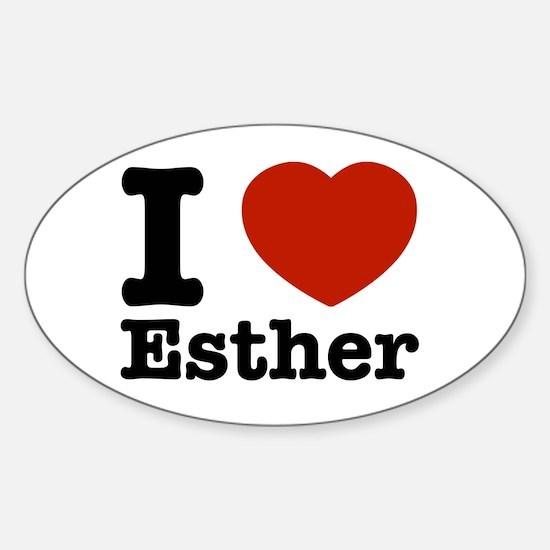 I love Esther Sticker (Oval)