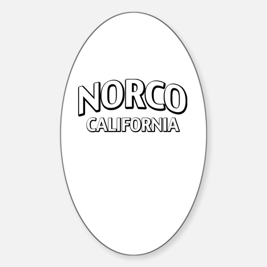 Norco California Sticker (Oval)