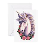 Unicorn Cameo Greeting Cards (Pk of 10)