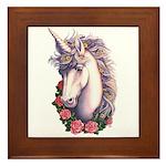 Unicorn Cameo Framed Tile
