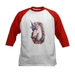 Unicorn Cameo Kids Baseball Jersey