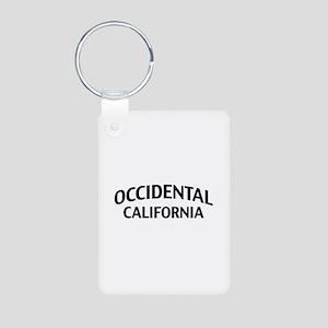 Occidental California Aluminum Photo Keychain