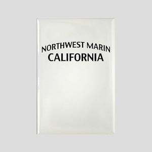 Northwest Marin California Rectangle Magnet