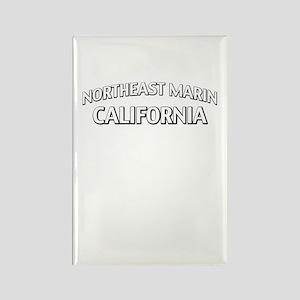Northeast Marin California Rectangle Magnet