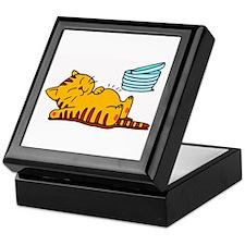 Funny Fat Cat Keepsake Box