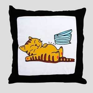 Funny Fat Cat Throw Pillow