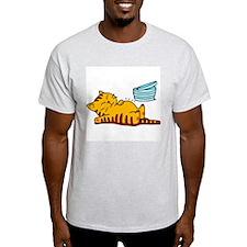 Funny Fat Cat Ash Grey T-Shirt