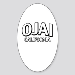 Ojai California Sticker (Oval)