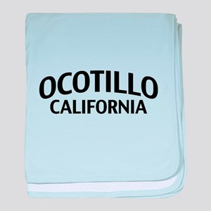 Ocotillo California baby blanket