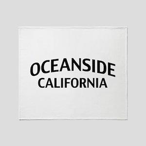 Oceanside California Throw Blanket