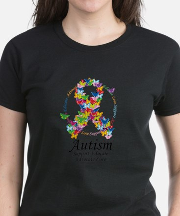 Autism-Butterfly-Ribbon T-Shirt