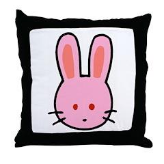 Cute Bunny Cartoon Throw Pillow