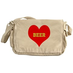 iHeart Beer Messenger Bag