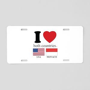 USA-MONACO Aluminum License Plate