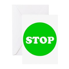 Stop Green Light Greeting Cards (Pk of 20)