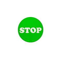 Stop Green Light Mini Button (10 pack)