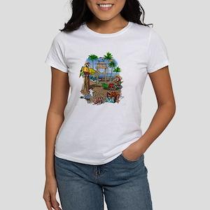 Parrot Beach Shack Women's T-Shirt
