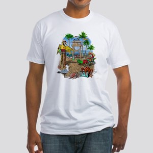 Parrot Beach Shack Fitted T-Shirt