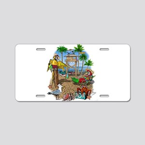 Parrot Beach Shack Aluminum License Plate