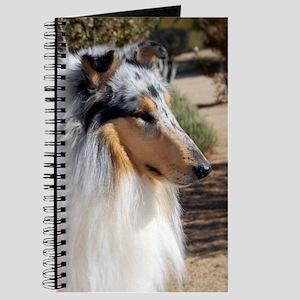 "Blue Merle Collie ""Sparky"" Side Portraite Journal"