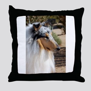 "Blue Merle Collie ""Sparky"" Side Portraite Throw Pi"
