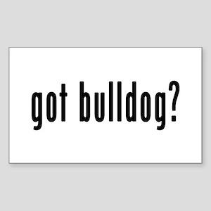 GOT BULLDOG Sticker (Rectangle)