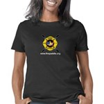 Fire Paddle Logo Clear Bla Women's Classic T-Shirt