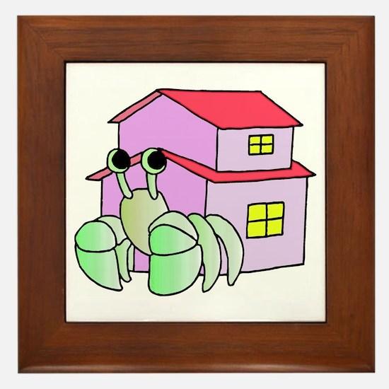Hermit Crab Cartoon Framed Tile
