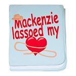 Mackenzie Lassoed My Heart baby blanket