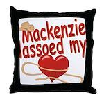 Mackenzie Lassoed My Heart Throw Pillow