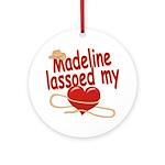 Madeline Lassoed My Heart Ornament (Round)
