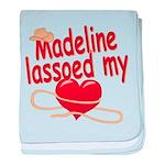 Madeline Lassoed My Heart baby blanket