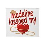 Madeline Lassoed My Heart Throw Blanket