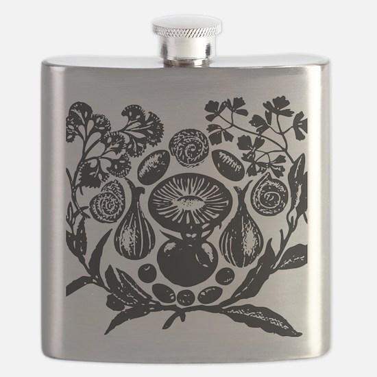 Unique Vintage retro art Flask