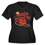Madelyn Lassoed My Heart Women's Plus Size V-Neck
