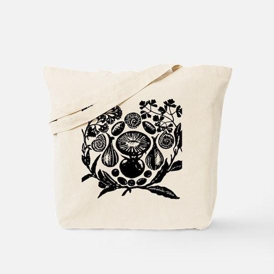 Cute Black white art Tote Bag