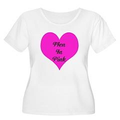 iHeart Men in Pink T-Shirt