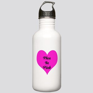 iHeart Men in Pink Stainless Water Bottle 1.0L