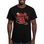 Makayla Lassoed My Heart Men's Fitted T-Shirt (dar