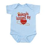 Makayla Lassoed My Heart Infant Bodysuit