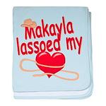 Makayla Lassoed My Heart baby blanket
