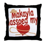 Makayla Lassoed My Heart Throw Pillow