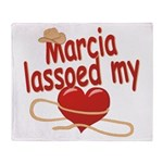 Marcia Lassoed My Heart Throw Blanket
