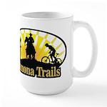 Large Mug with Yellow Sunburst Logo