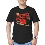 Margaret Lassoed My Heart Men's Fitted T-Shirt (da