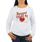 Margaret Lassoed My Heart Women's Long Sleeve T-Sh