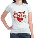 Margaret Lassoed My Heart Jr. Ringer T-Shirt