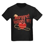 Margaret Lassoed My Heart Kids Dark T-Shirt