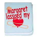 Margaret Lassoed My Heart baby blanket