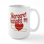 Margaret Lassoed My Heart Large Mug